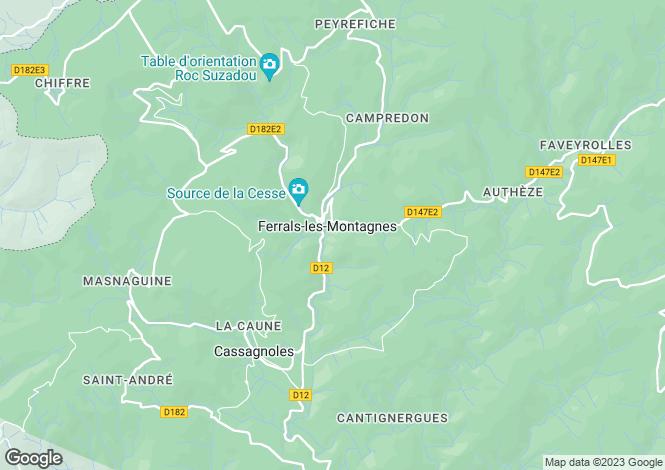 Map for ferrals-les-montagnes, Hérault, France