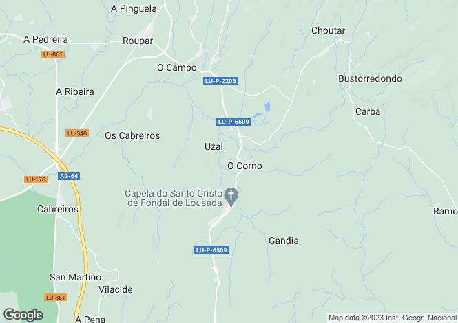 Map for Galicia, Lugo, Xermade