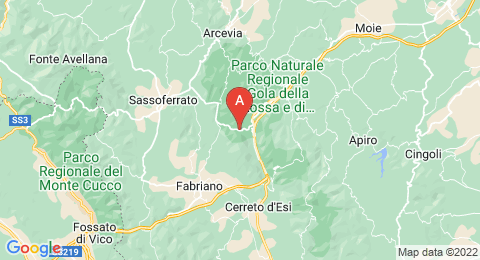 map of Frasassi Caves (Italy)