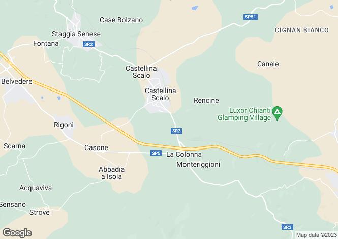 Map for Tuscany, Siena, Monteriggioni