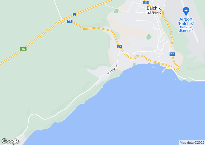 Map for Balchik, Dobrich