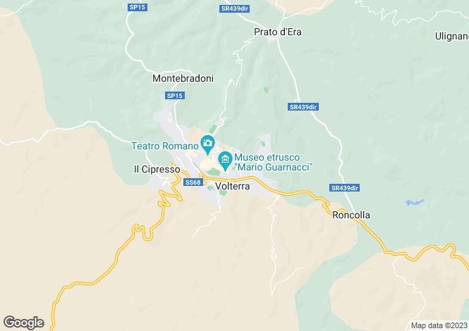 Map for Volterra, San Gimignano, Tuscany