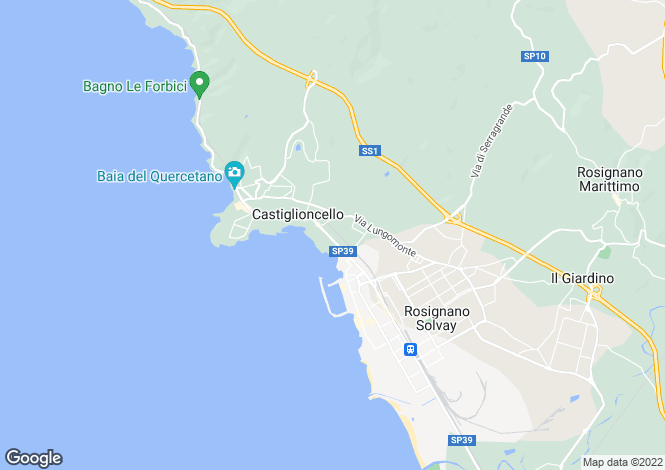 Map for Castiglioncello, Livorno, Italy
