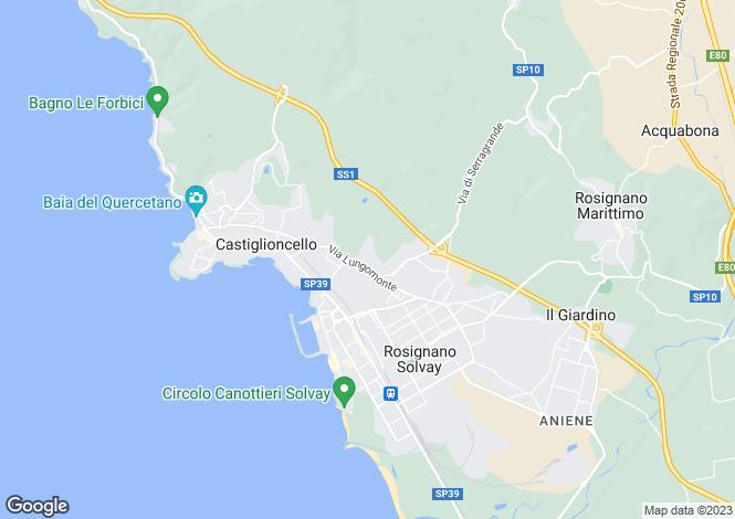 Map for Tuscany, Livorno, Castiglioncello
