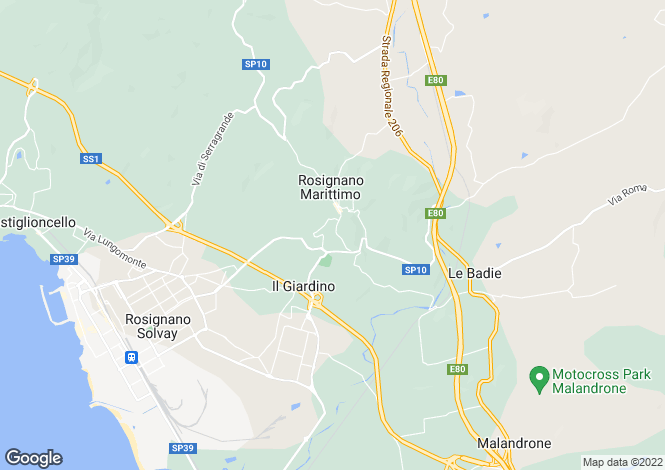 Map for Tuscany, Livorno, Rosignano Marittimo