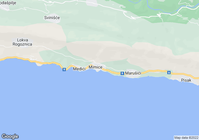 Map for Omis, Split-Dalmatia