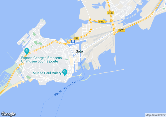 Map for sete, Hérault, France