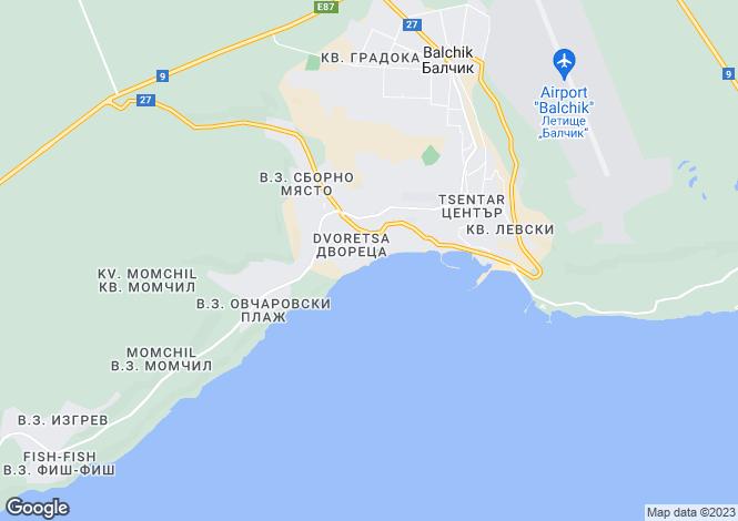 Map for Balchik, Dobrich