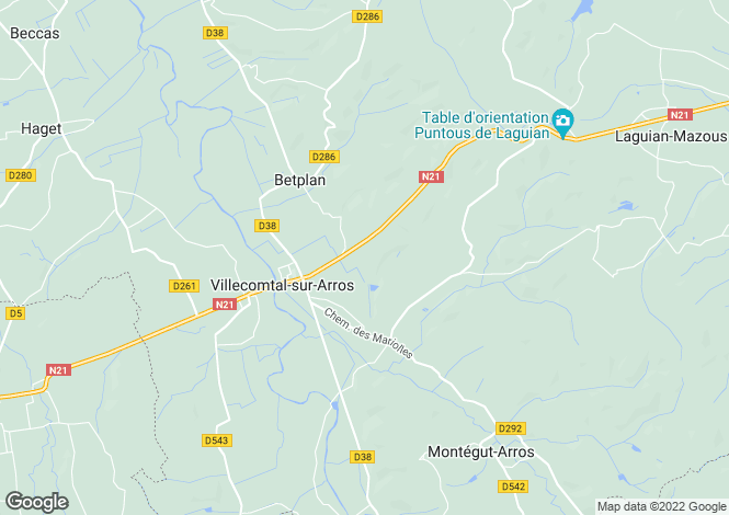 Map for villecomtal-sur-arros, Gers, France