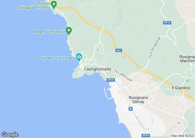 Map for Castiglioncello, Tuscany, Italy