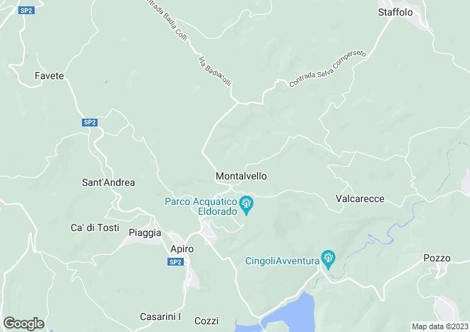 Map for Le Marche, Macerata, Apiro
