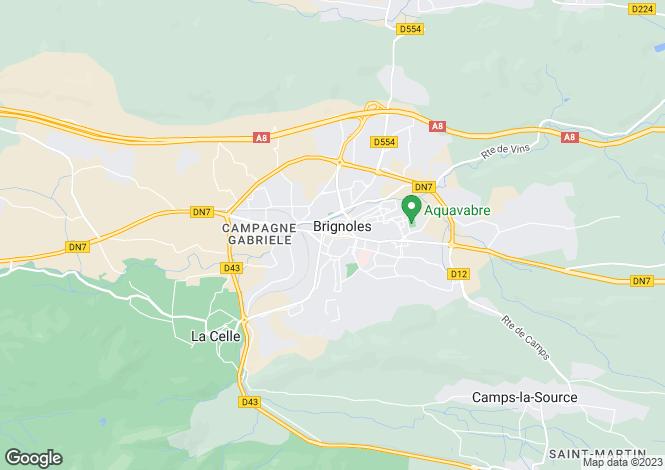 Map for Brignoles, Var, 83170, France