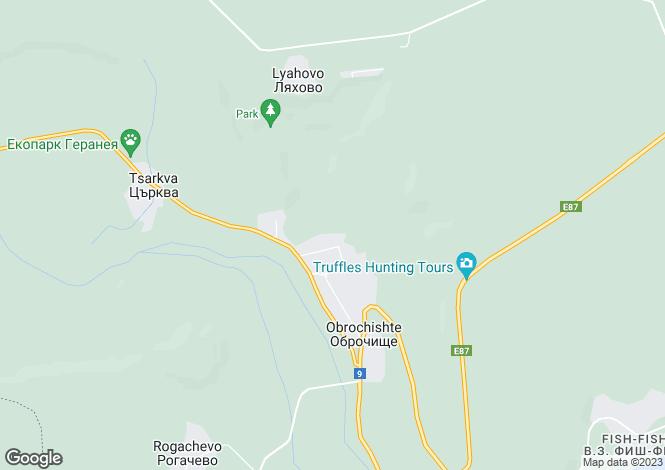 Map for Obrochishte, Dobrich
