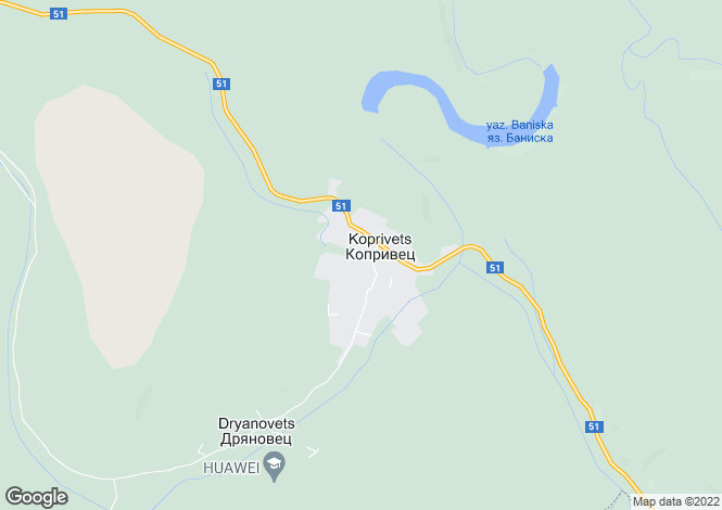Map for Ruse, Koprivets