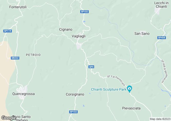 Map for Castelnuovo Berardenga, Siena, Tuscany