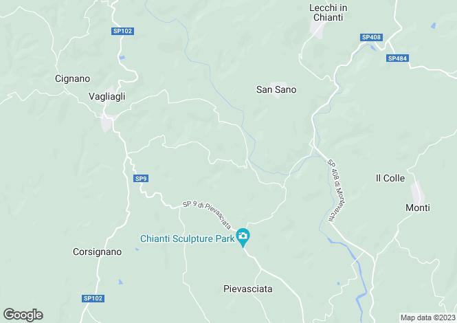 Map for Trebbiano, Lecchi In Chianti, Tuscany, Italy