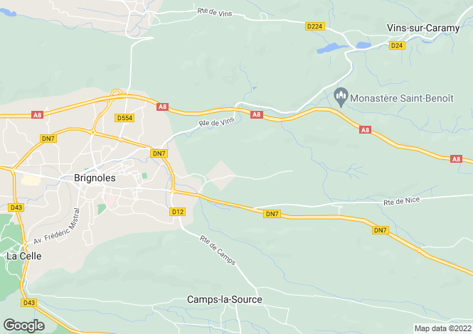 Map for Near Brignoles, Haut Var