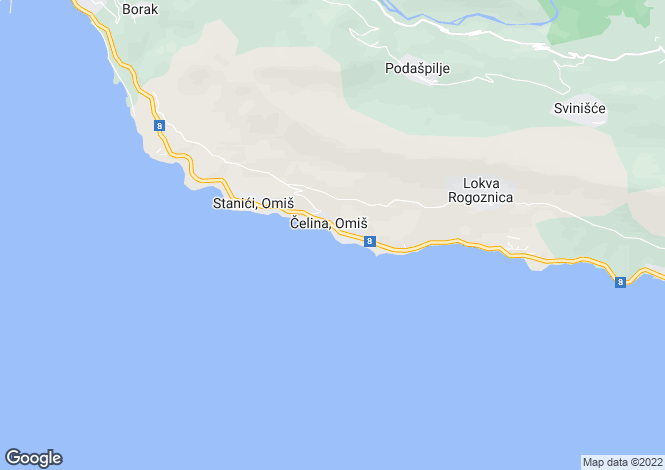 Map for Split-Dalmatia, Omis