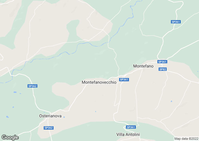 Map for Montefano, Macerata, Le Marche
