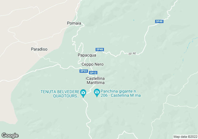 Map for Castellina Marittima, Tuscany, Italy