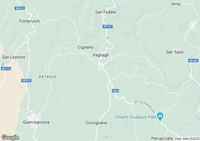 Map for Italy - Tuscany, Siena, Castelnuovo Berardenga