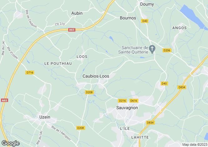 Map for caubios-loos, Pyrénées-Atlantiques, France