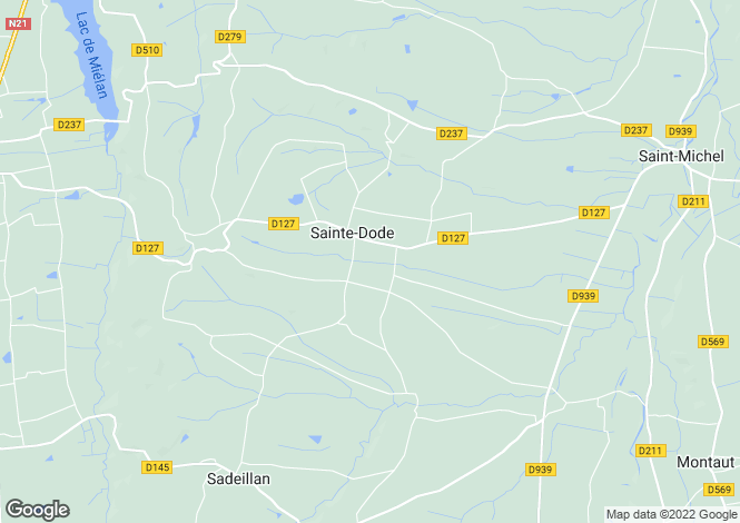 Map for Midi-Pyrenees, Gers, Sainte-Dode
