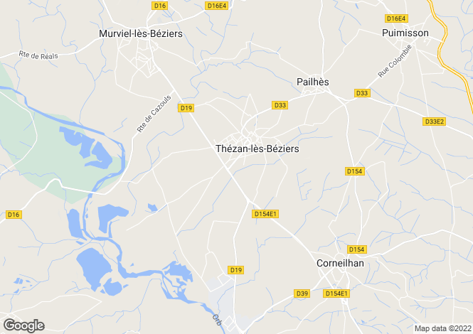 Map for Thezan Les Beziers, Languedoc-Roussillon, 34490, France