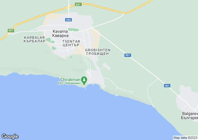 Map for Kavarna, Dobrich