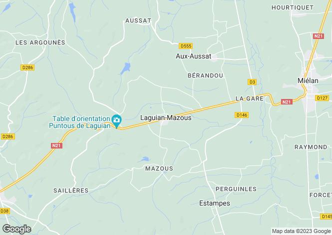 Map for Laguian-Mazous, Midi-Pyrenees, 32170, France