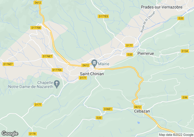Map for st-chinian, Hérault, France