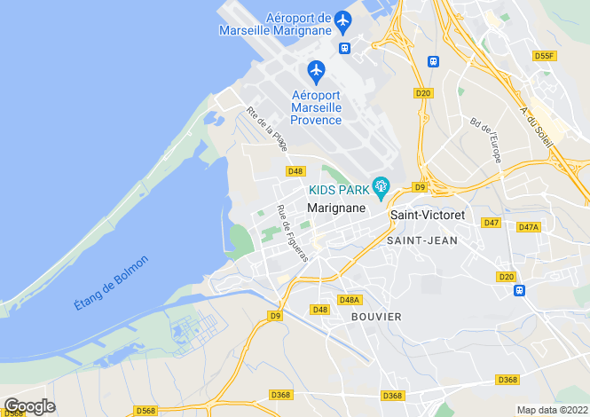 Map for MARIGNANE, Marseille Area, Provence - Var,
