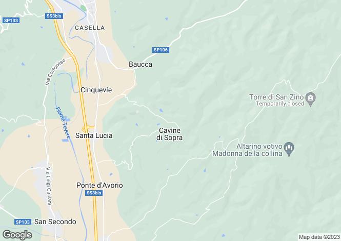 Map for Villa Uliveto, Citta di Castello, Umbria, Italy