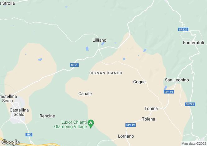 Map for Casa Lilliano, Castellina In Chianti, Tuscany, Italy