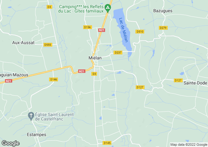 Map for mielan, Gers, France