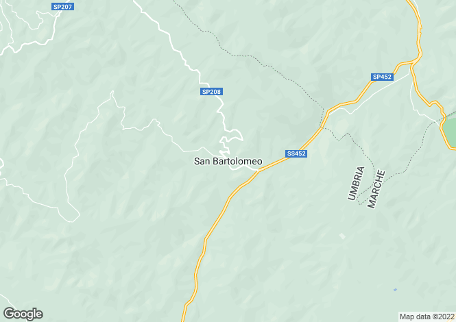Map for Poderetto, San Bartolomeo, Gubbio, Italy