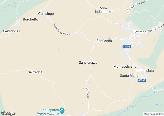Map for Italy - Le Marche, Ancona, Filottrano