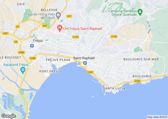 Map for Saint-Raphaël, Var, 83700, France