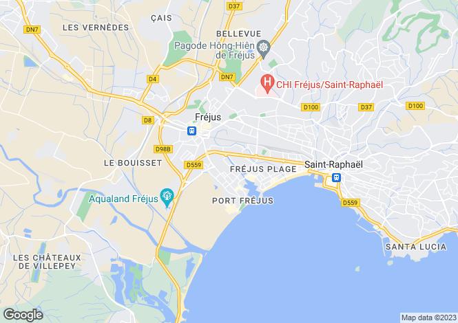 Map for Provence-Alps-Cote d`Azur, Var, Fréjus