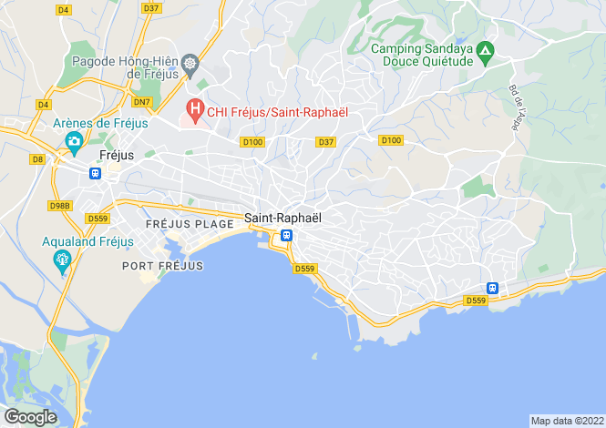 Map for St-Raphaël, Var, Provence-Alps-Cote d`Azur