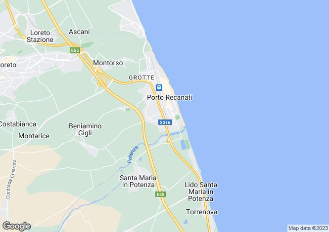 Map for Porto Recanati, Macerata, Le Marche