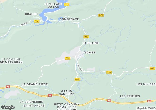 Map for Provence-Alps-Cote d`Azur, Var, Cabasse