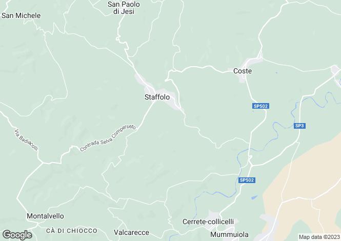 Map for Staffolo, Ancona, Le Marche