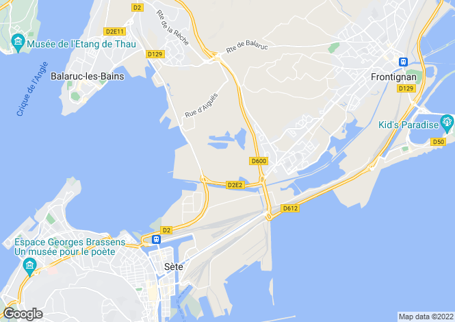 Map for Sète, Hérault, Languedoc-Roussillon