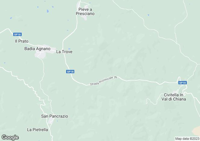 Map for Pergine Valdarno, Arezzo, Italy