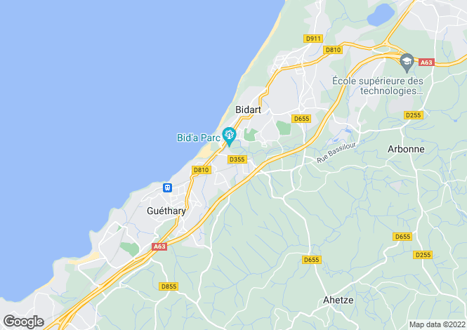 Map for GUETHARY ,France