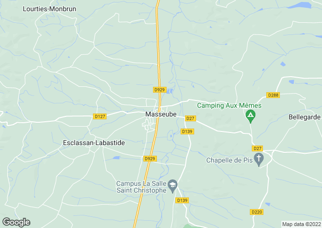 Map for Masseube, Midi-Pyrenees, 32140, France