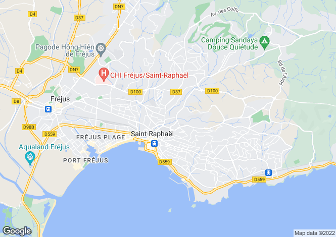 Map for Provence-Alps-Cote d`Azur, Var, St-Raphaël