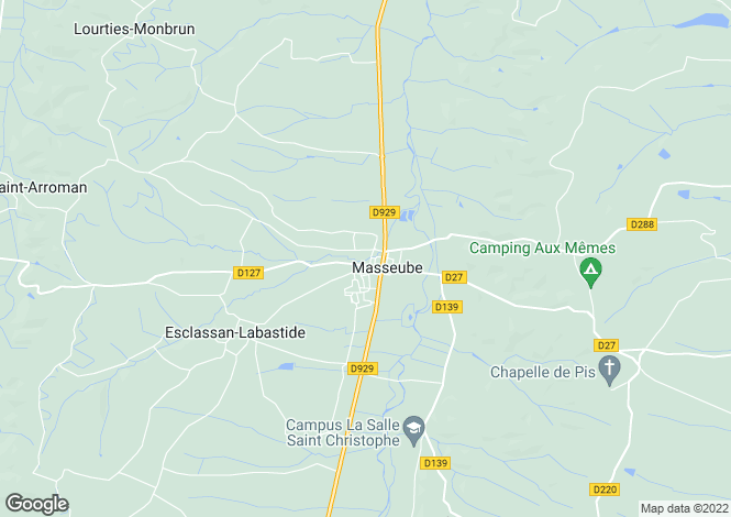 Map for masseube, Gers, France