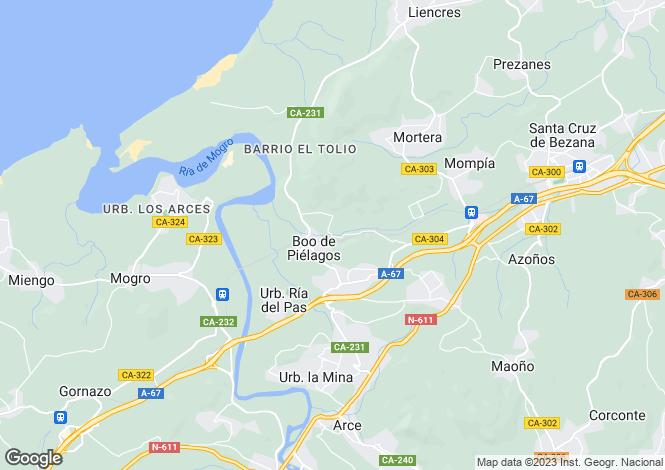 Map for Santa Cruz de Bezana, Santander, Cantabria